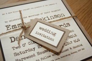 brown paper, tying the knot wedding invitation (2)