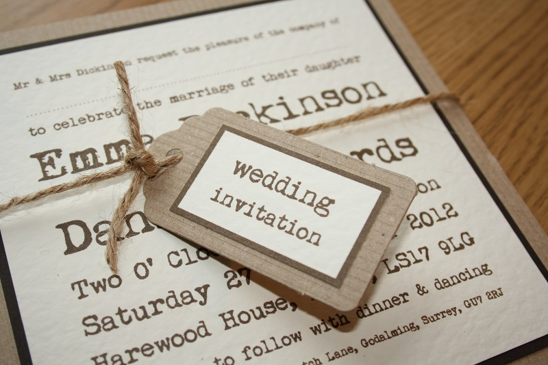 Imgenes de cheap wedding invite uk brown paper tying the knot wedding invitation 2 filmwisefo