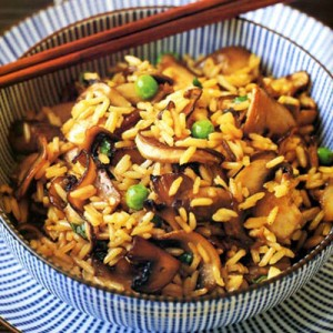 Mushroom Rice in Chinese Style