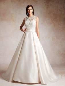 satin-illusion-neckline-a-line-wedding-dress-