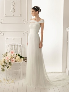 sheath-tulle-strapless-asymmetrically-shoulder-straps-wedding-dress