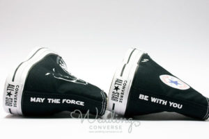 Black high rise trainer with may the force be with you