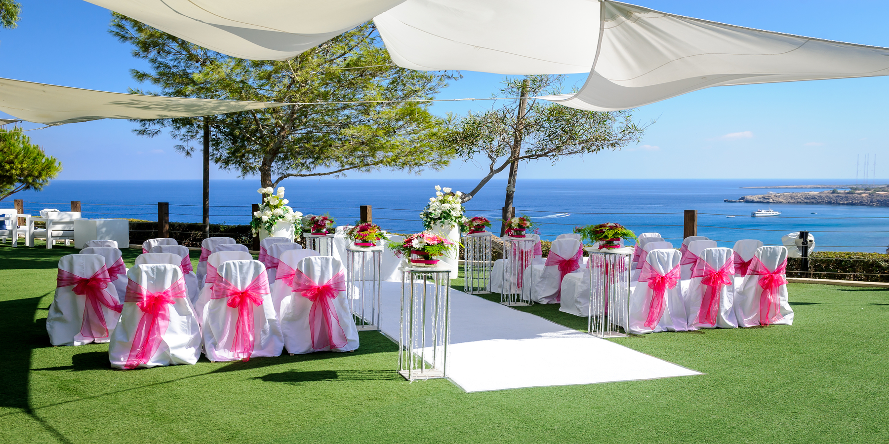 Cliff side wedding ceremony